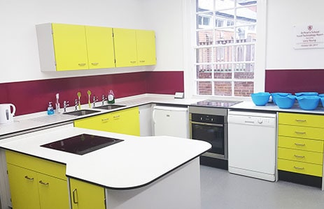 Primary school food technology room
