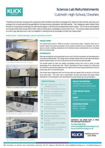 CASE STUDY CULCHETH HIGH SCHOOL