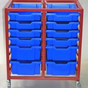 Superstack 16, 4 x Double & 8 x Single Trays, 75mm Castors, No MFC Top.