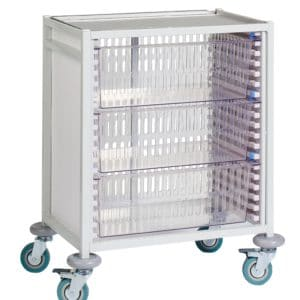 Klick Technology HTM71 Low Level Trolley with HTM71 Trays, HTM71 Baskets.